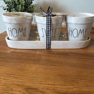 Rae Dunn HOME SWEET HOME planter/flower pot